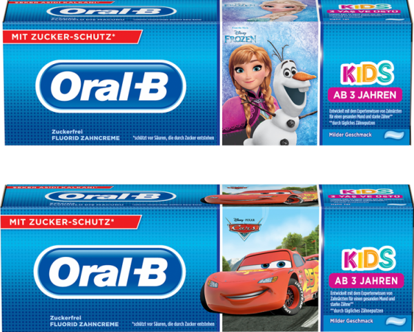 Oral-B Kinderzahncreme 75 ml, für Kinder von 3-6 Jahren
