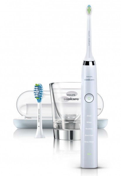 Philips® Sonicare Diamond Clean white HX9382/09, mit 2 Aufsteckbürsten