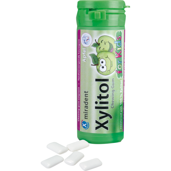 Xylitol Chewing Gum for Kids Apfel, Dose 30 Stück