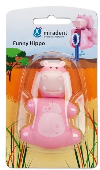 Miradent Funny Hippo Zahnbürstenhalter für Kinder