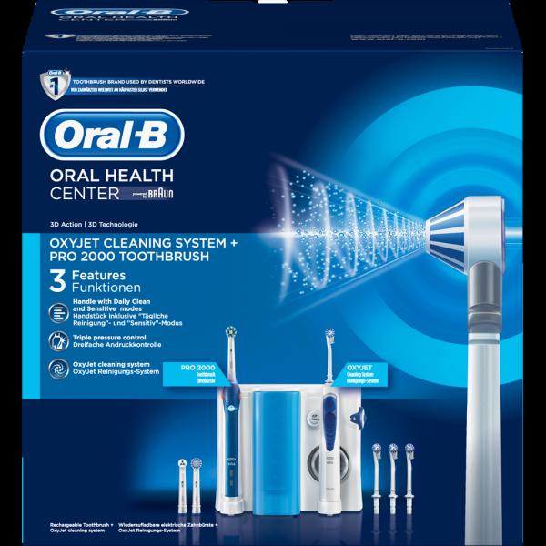 Oral-B Mundpflege Center: Oral-B Pro 2000 + OxyJet Munddusche