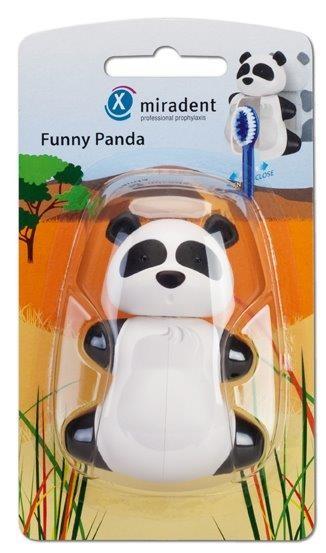 Miradent Funny Panda Zahnbürstenhalter für Kinder